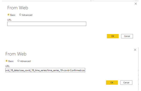 Power BI Web Data Connection String Examples