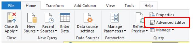 Power BI Desktop Advanced Editor